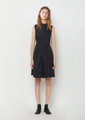 Sleeveless Cotton Poplin Wrap Dress