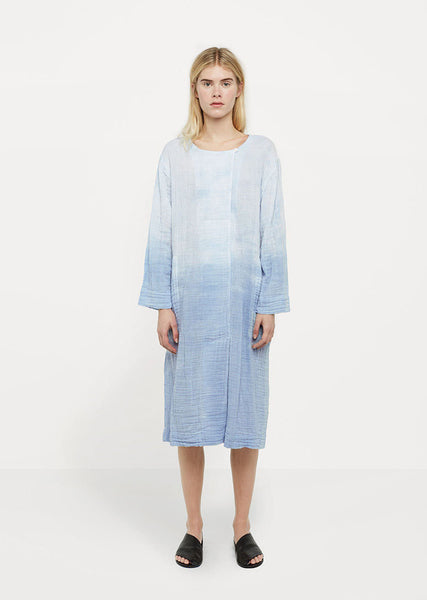 Raquel Allegra Cotton Gauze Tie Dye Day Dress La Garconne