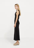 Liquid Satin Bow Maxi Dress