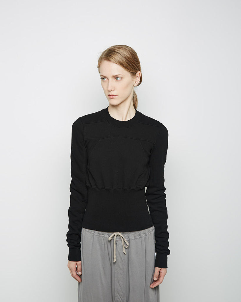 Cropped Geometric Sweat Top