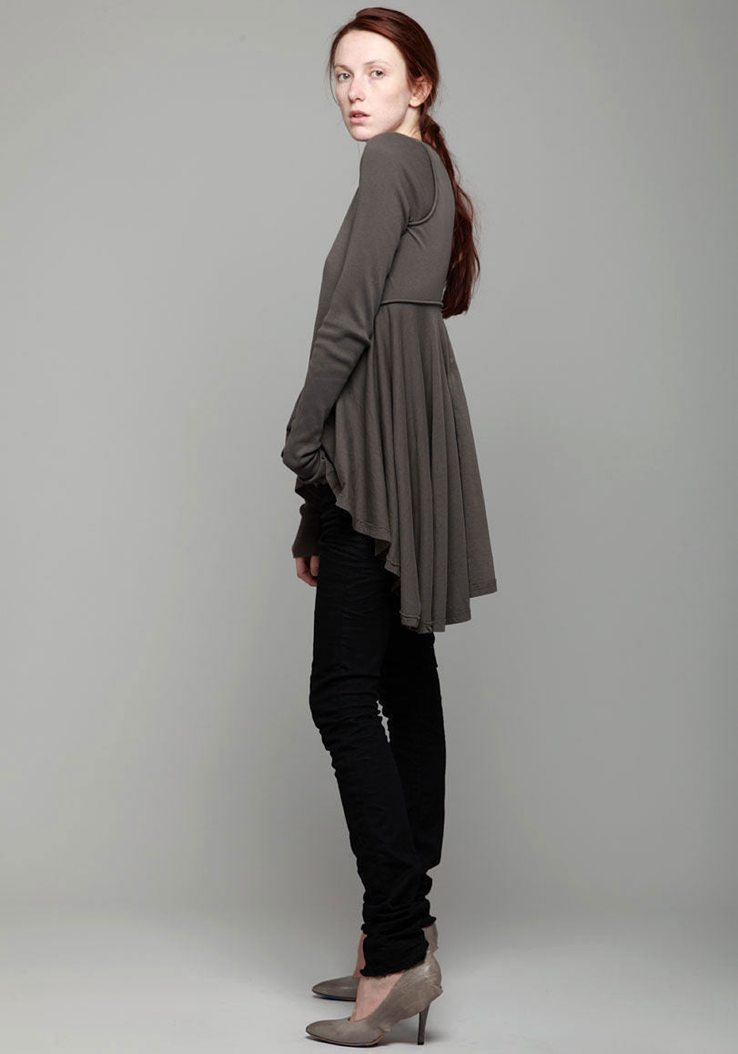 Ribbed Sleeve Tunic