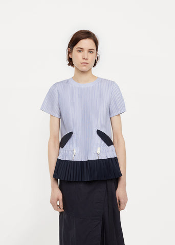 Shirting Drawstring Top