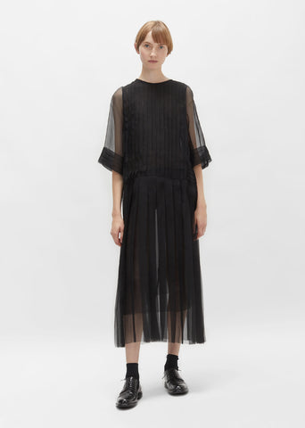 Sheer Silk Chiffon Dress