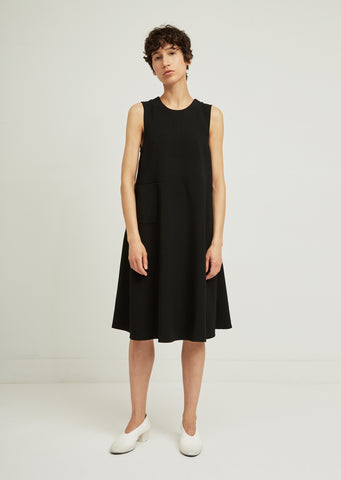 Tie Open Back Wool Dress