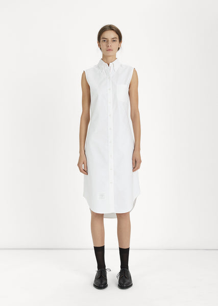 Oxford Sleeveless Shirtdress