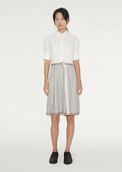 Thom Browne Pleated Bottom Shirtdress La Garconne