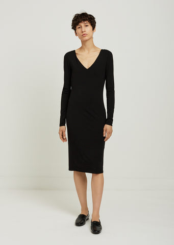 Damara Long Sleeve Viscose Dress