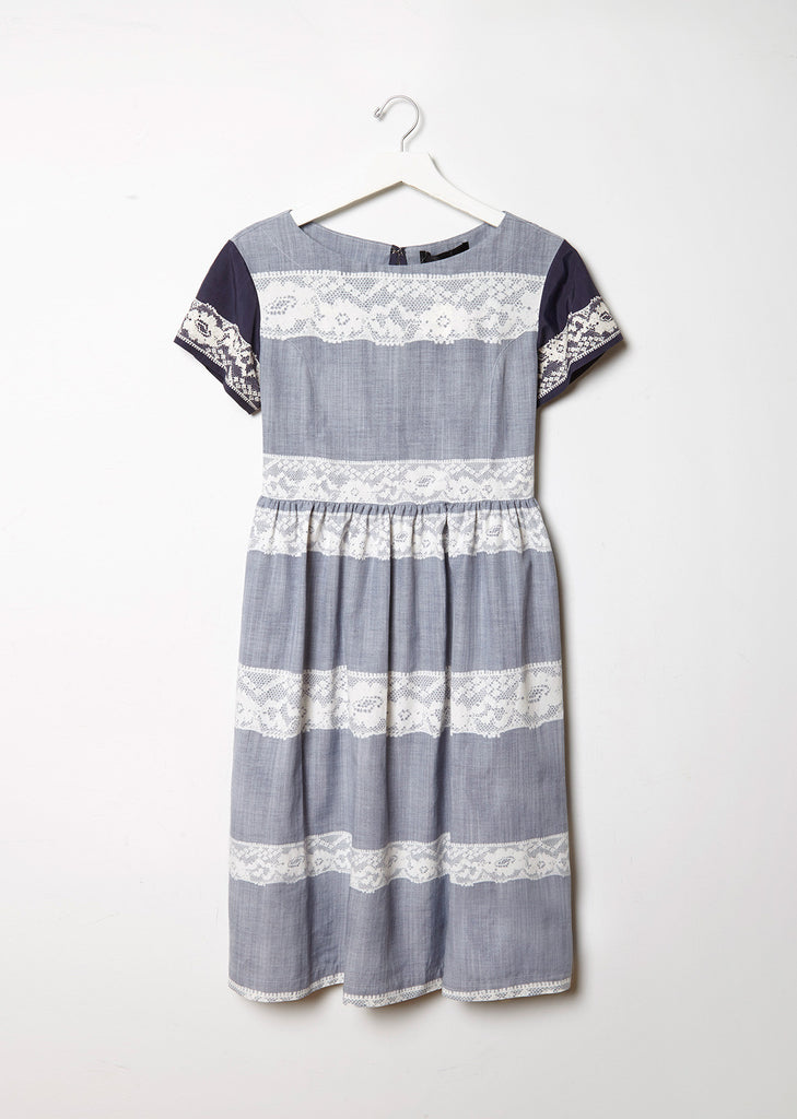 Lace Pattern Print Dress