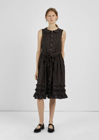 Printed Polka-Dot Dress
