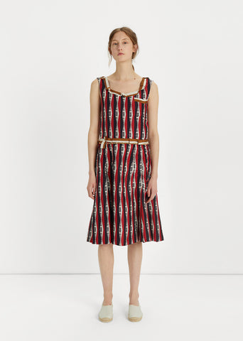 Keyboard Printed Silk Dress