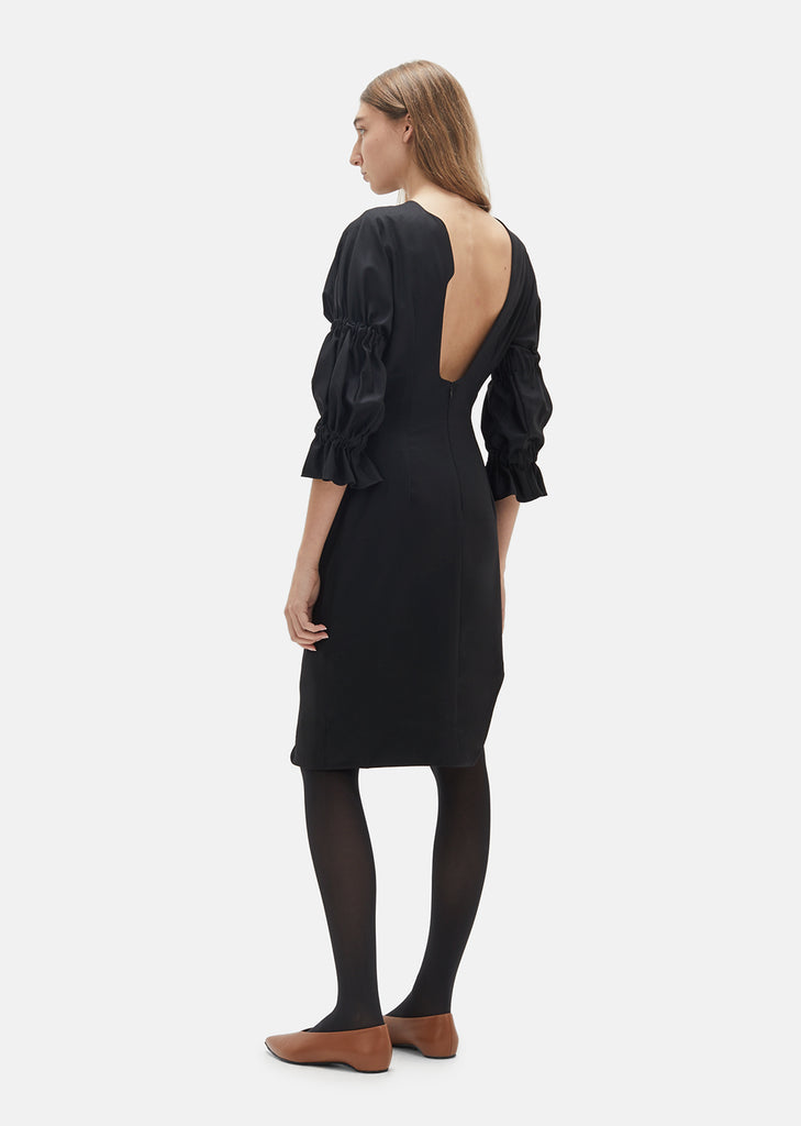 Elasticated Puff Sleeve Dress