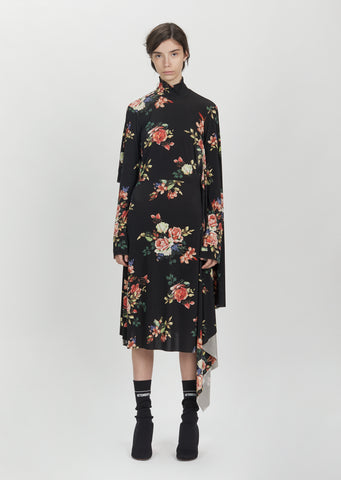Panel Turtleneck Dress