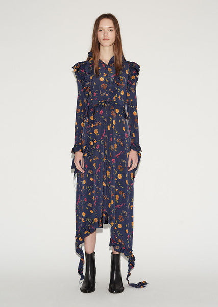 Vetements Flower Print Dress La Garconne