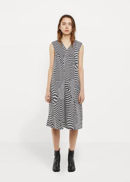Cotton Poplin Print Dress