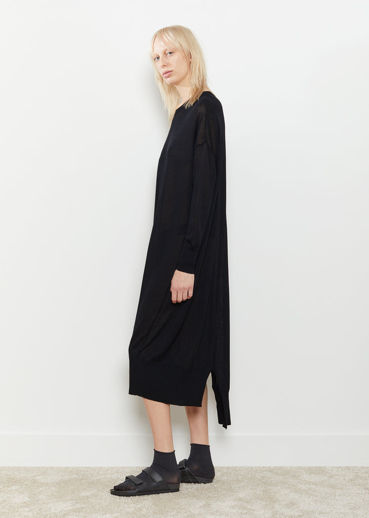 Knit Diagonal Panel Dress