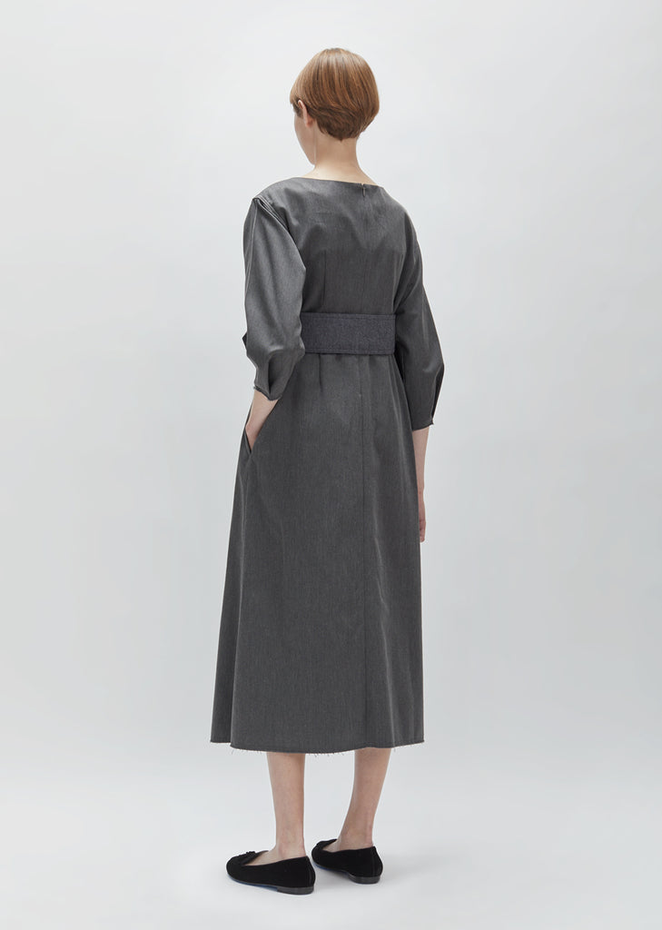 Twill Belted Dress
