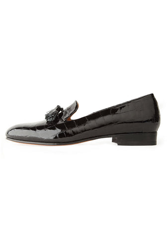 Gaston Patent Croc Slip-On
