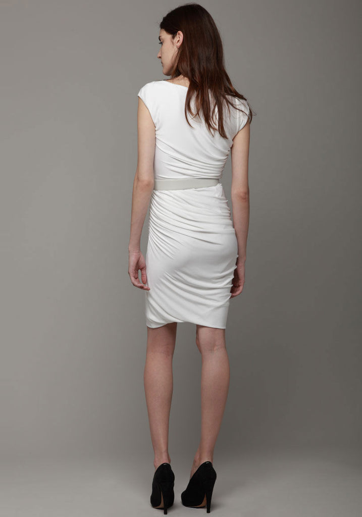 Belted Ruched Dress