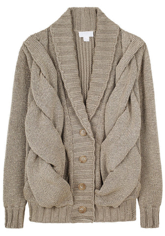 Exaggerated Cable Cardigan