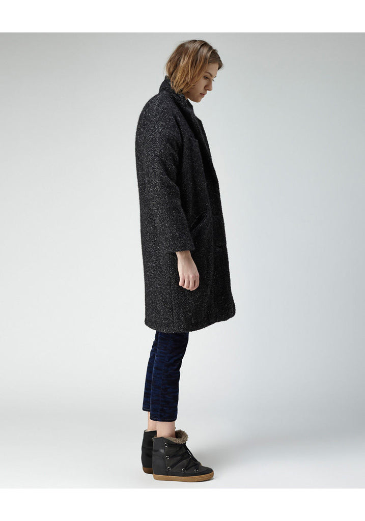Delphe Herringbone Coat