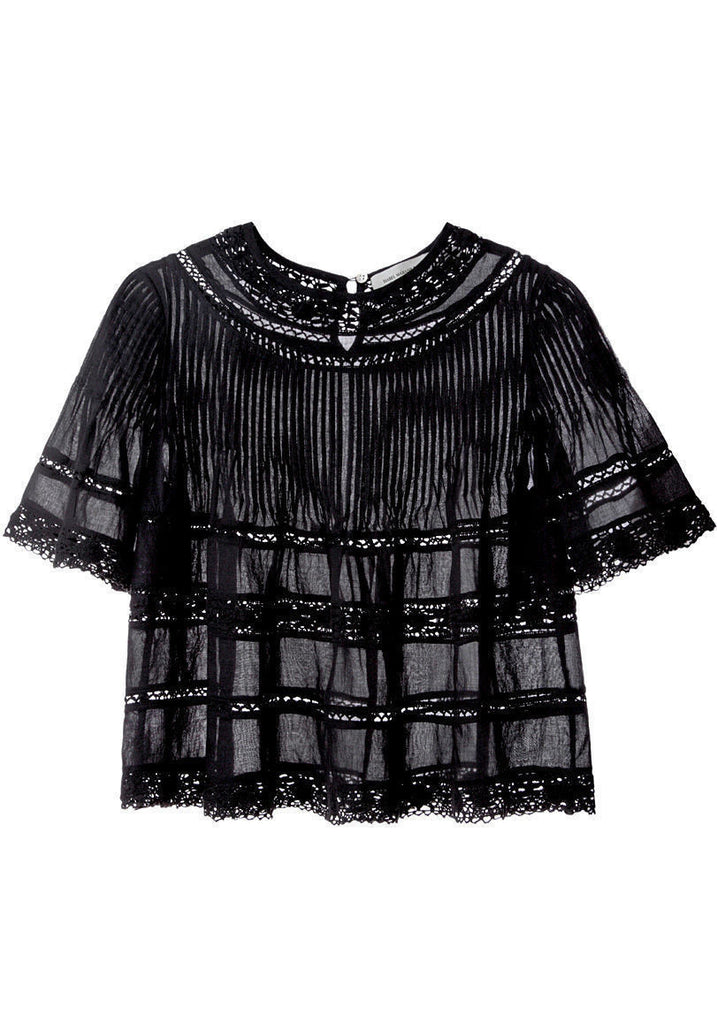 Garbo Lace Top