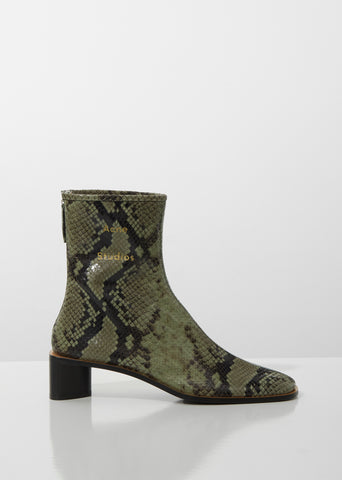 Bertine Snake Ankle Boots