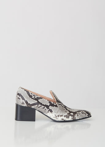 Brigitta Snake Heeled Loafers