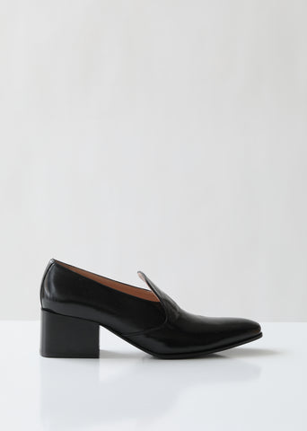 Brigitta Heeled Leather Loafers