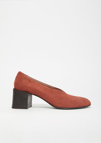 Sully Reverse Suede Block Heel Pumps