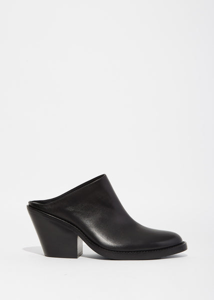 Leather Heeled Mule
