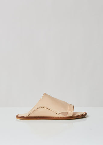 Slip On Leather Slides