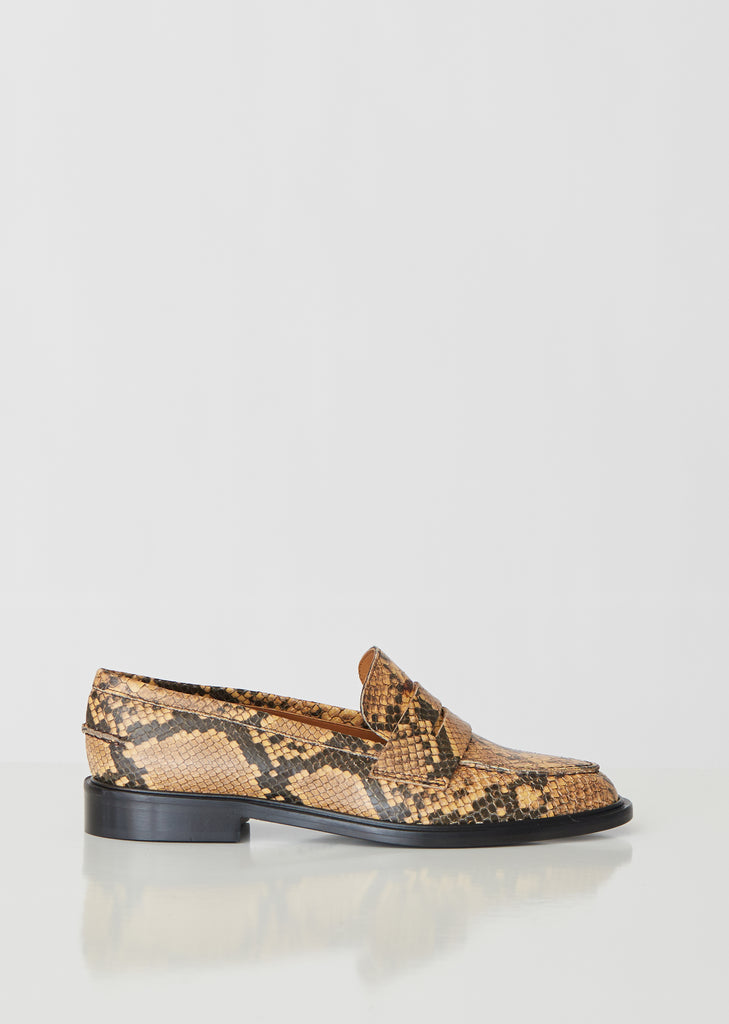 Monti Printed Snake Loafers