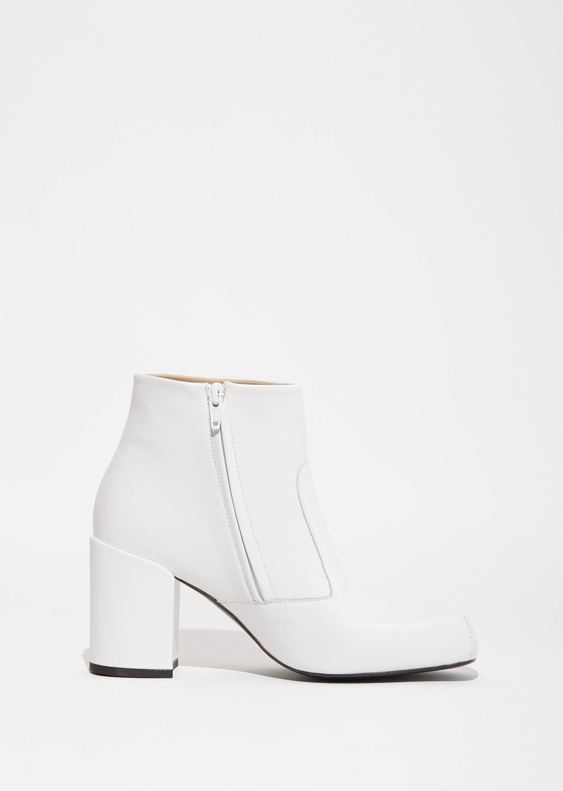 Square Toe Low Boots