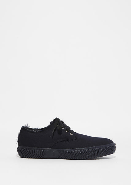 Padded Wool Gabardine Sneakers