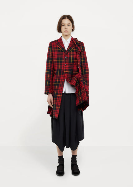 Wool Tartan Check Jacket