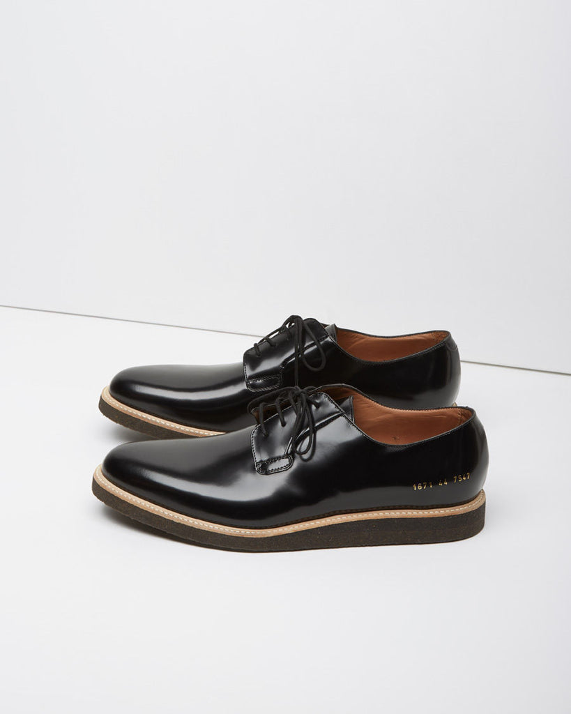 Glossed Derby Shoe