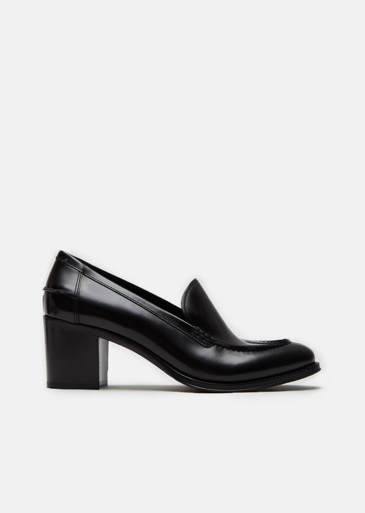 Sabine Polished Fume Heeled Loafers