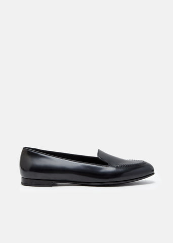 Octavia Polished Fume Ballerina Loafers