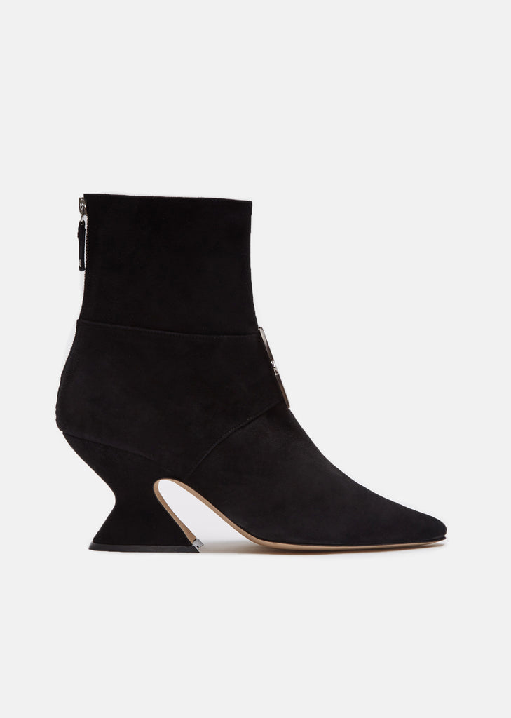 Radio II Black Suede Ankle Boots