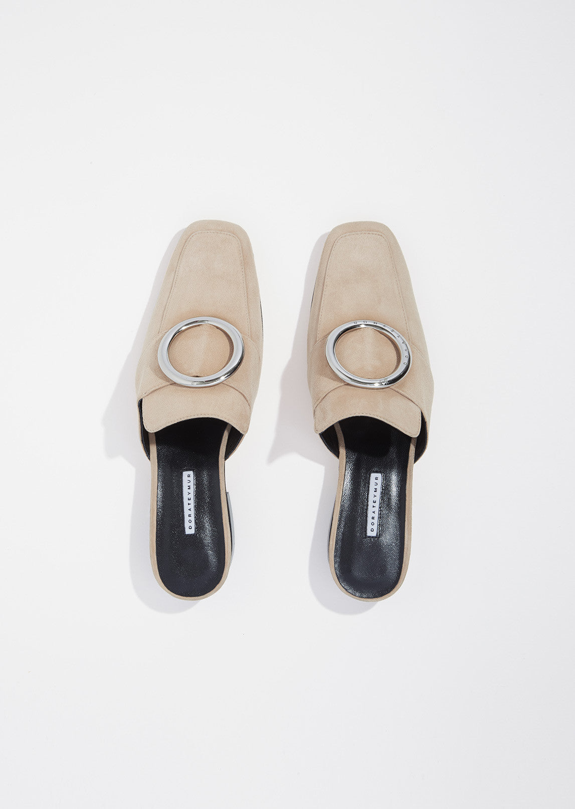 Petrol Suede Slip On Loafers