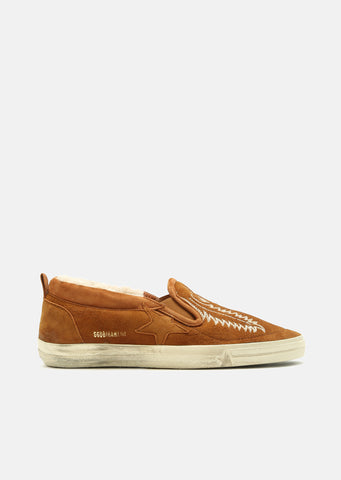 Hanami Shearling Slip On Sneakers