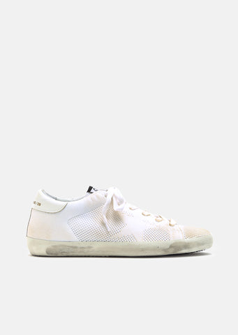 Superstar White Knitted Sneakers