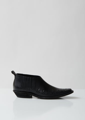 Laser Cut Low Chelsea Boot