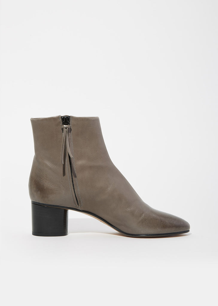 Danay Cylinder Heel Leather Boots