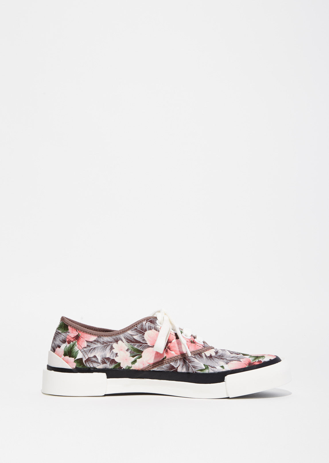 Floral Print Lace Up Sneaker