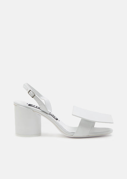 Square Round Leather Sandals