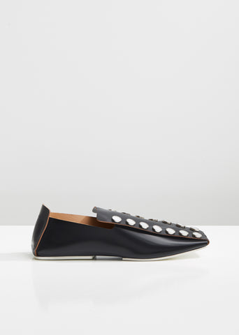Mirror Leather Loafers
