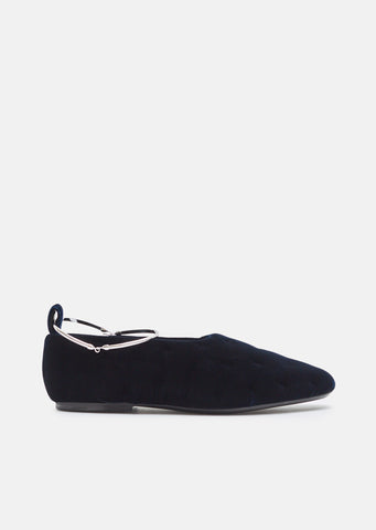 Velvet Flats with Removable Anklet