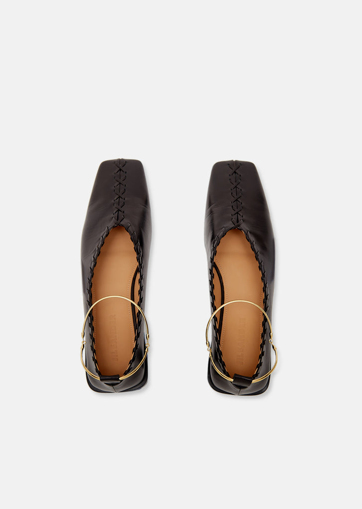 Braided Trim Flats With Removable Anklet