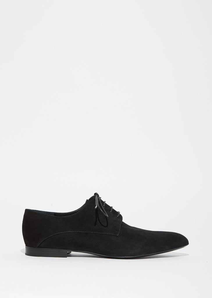 Suede Pointy Toe Oxfords